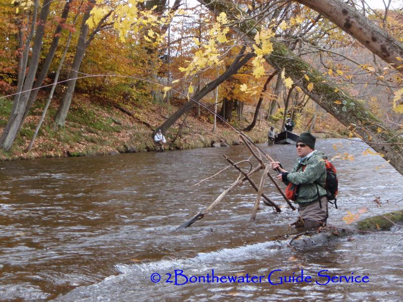2bonthewater guide service salmon fishing pictures for Salmon fishing season ny